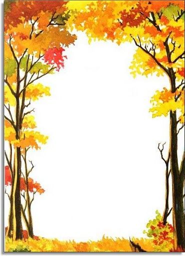 370x512 Automne Bordure Photo Frame, Border Stationary