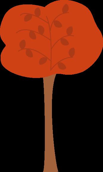 347x580 Pretty Maroon Autumn Tree Clip Art