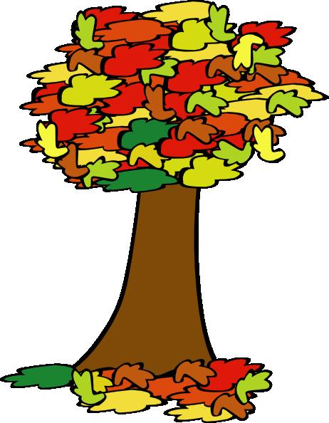 462x594 Fall Coloured Tree Clip Art