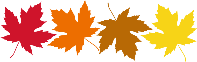 760x240 Free Autumn Leaves Clipart