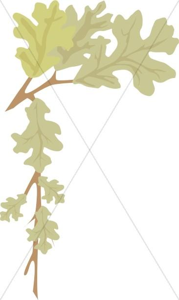 366x612 Oak Leaf Page Corner Leaf Borders
