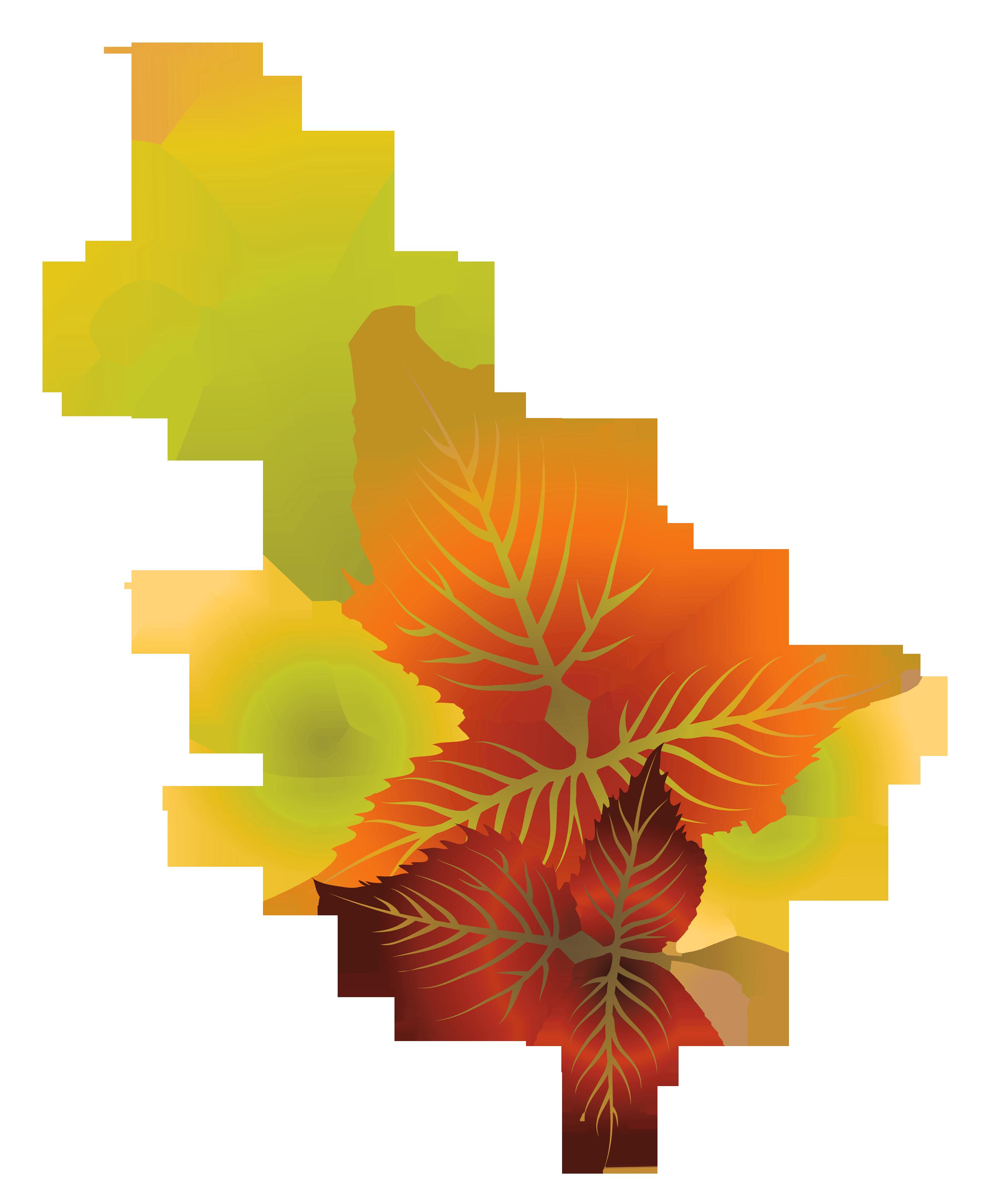 2779x3370 Fall Leaves Clip Art 4