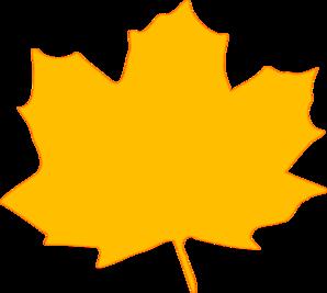 298x267 Yellow Fall Leaf Clip Art