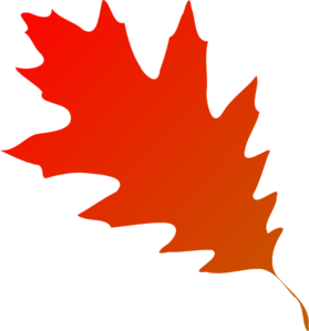 279x299 Autumn Leaf Red Orange Clip Art