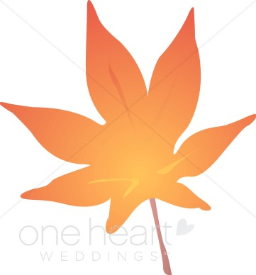 361x388 Orange Leaf Clipart Fall Wedding Clipart