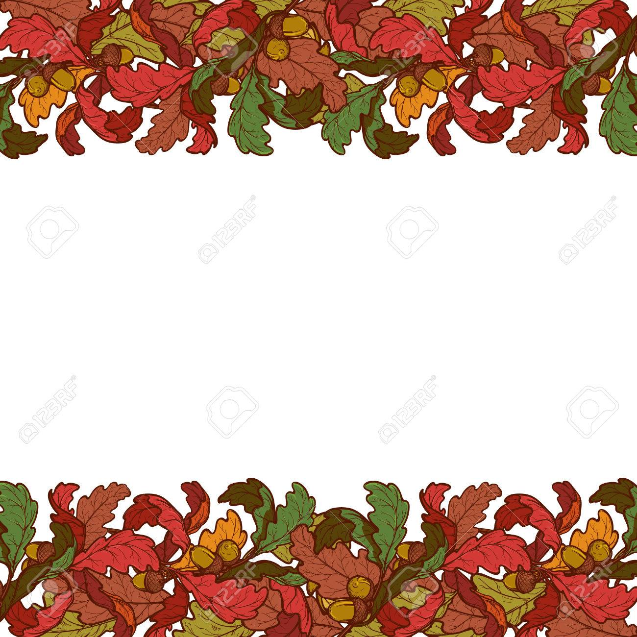 1300x1300 Leaf Border Template. Border Leaf Border Template. Maple Leaf