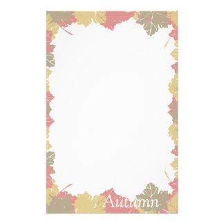 324x324 Autumn Leaves Stationery Zazzle