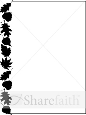 292x388 Fall Leaves Clipart Black And White Border