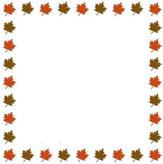 537x539 Leaf Clipart Boarder
