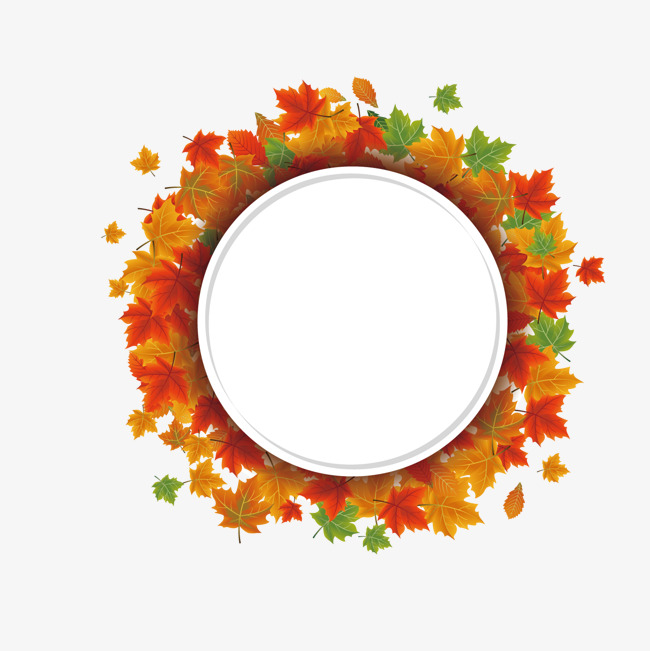 650x651 Maple Leaf Round Border, Fall, Autumn, Leaves Png And Vector