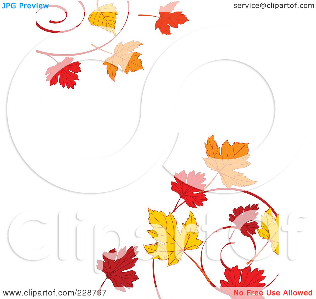 1080x1024 Royalty Free (Rf) Clipart Illustration Of A Border Of Autumn Leaf