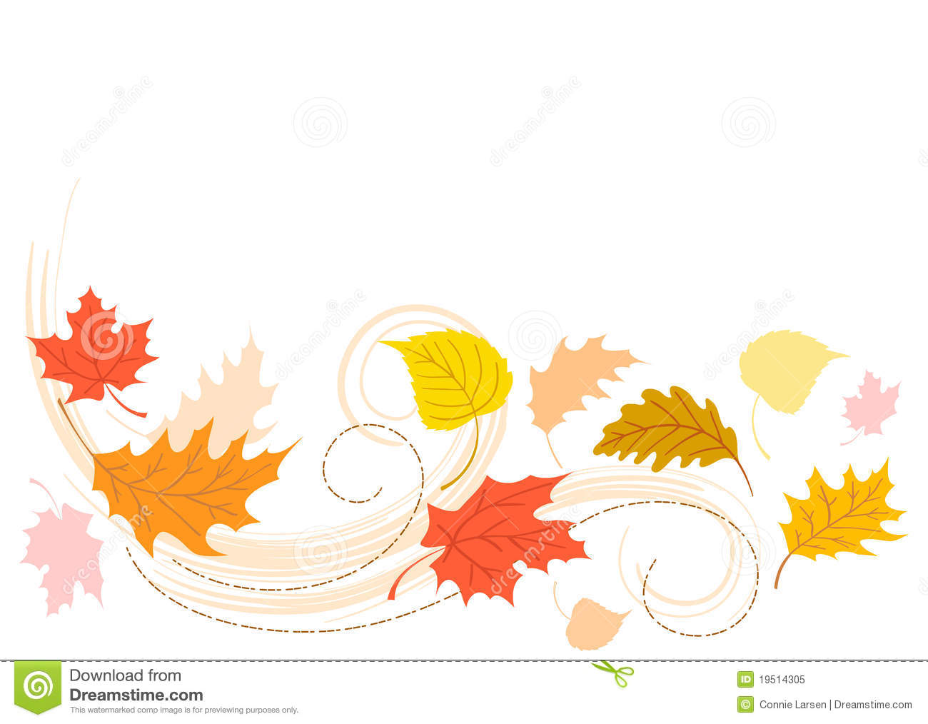1300x1014 Leaves Clipart Windy