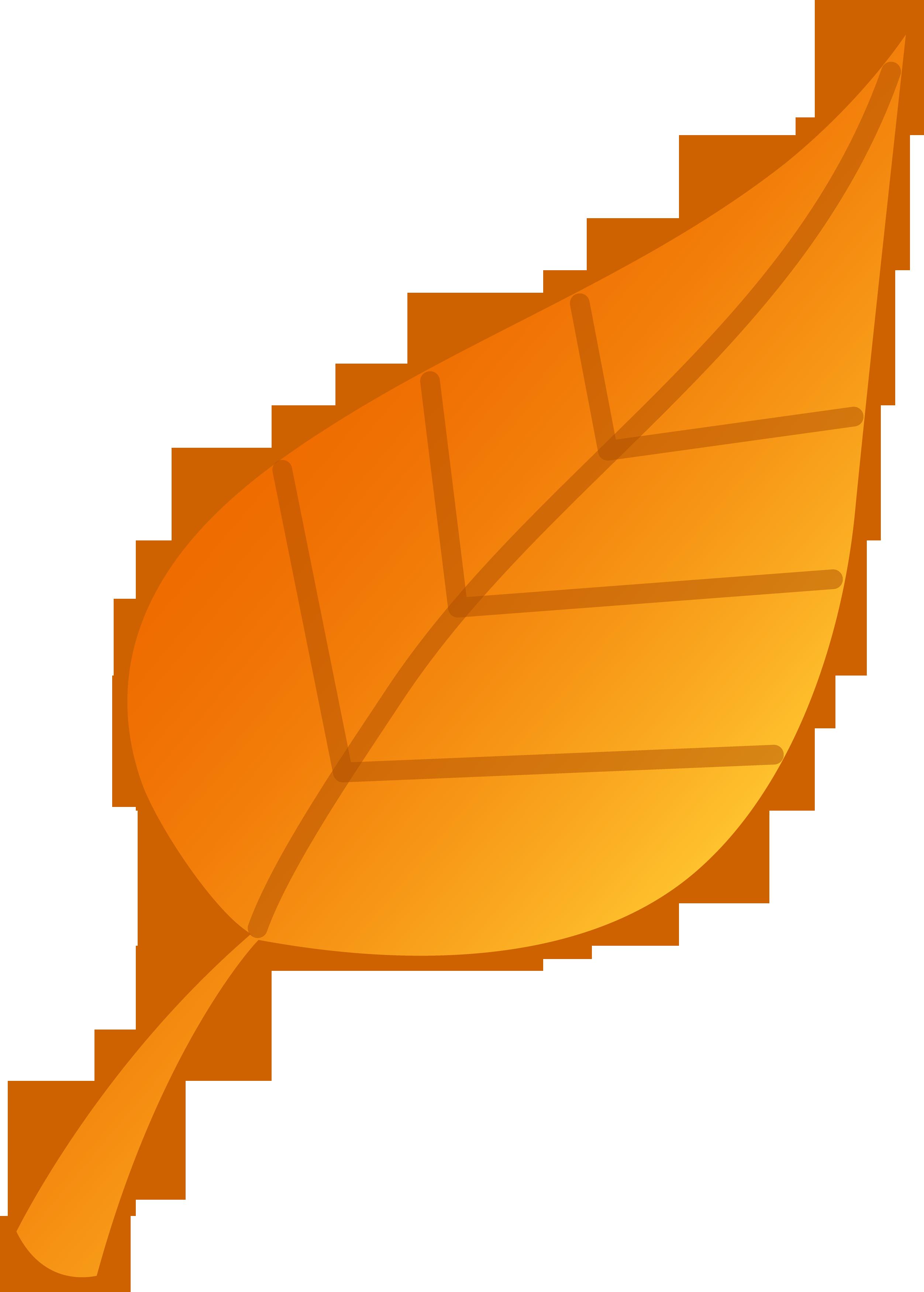 2504x3500 Simple Golden Leaf Vector Art
