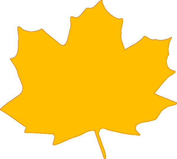 600x537 Yellow Fall Leaf Clip Art