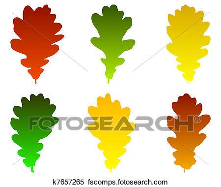 450x380 Clipart Of Oak Leaves K7657265