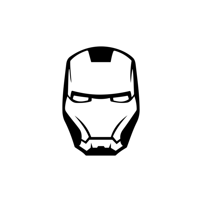 690x690 Iron Man Marvel Avengers Superhero Helmet By Vectordesign On Zibbet