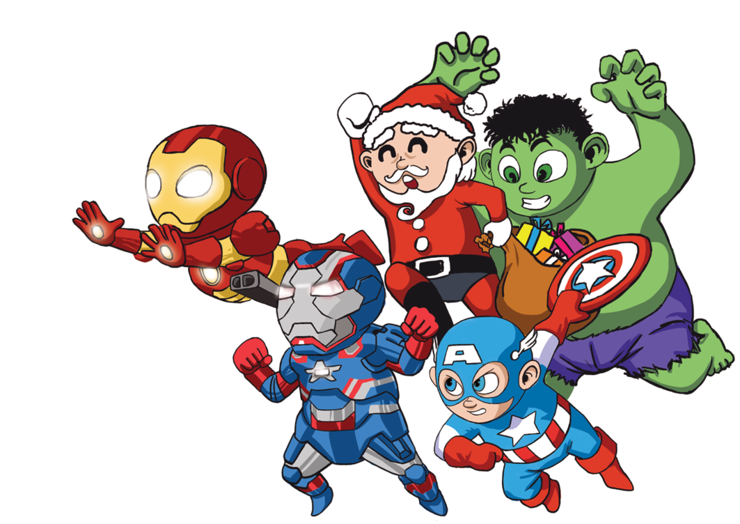 1063x752 It's Christmas, Baby Avengers Assemble! By Deemonhunter360