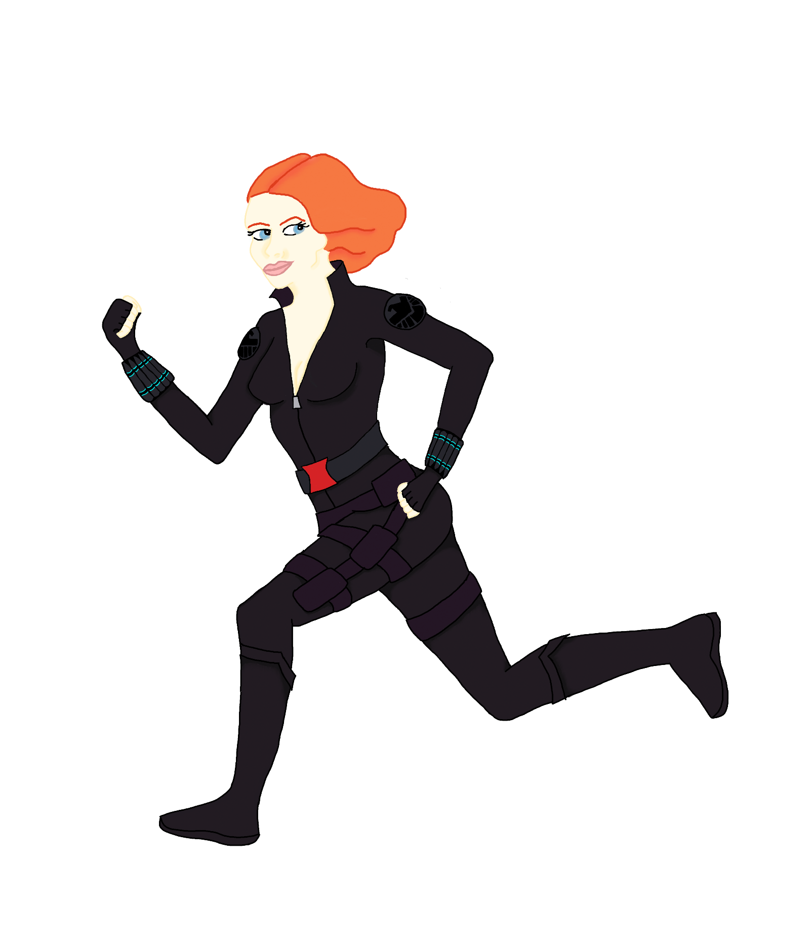 1600x1856 Avengers Black Widow Cartoon
