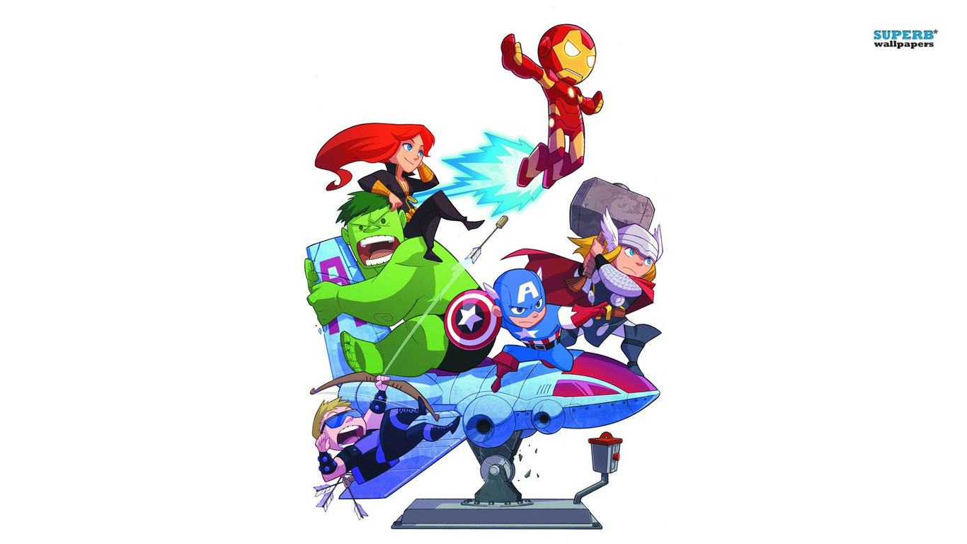 1366x768 Cartoon Avengers Wallpaper Clipart Panda