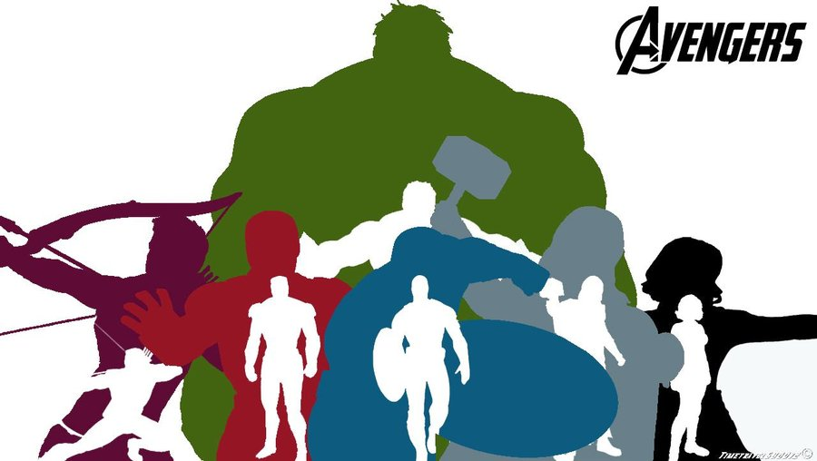 900x508 The Avengers Silhouette Wallpaper Widescreen By Timetravel6000v2