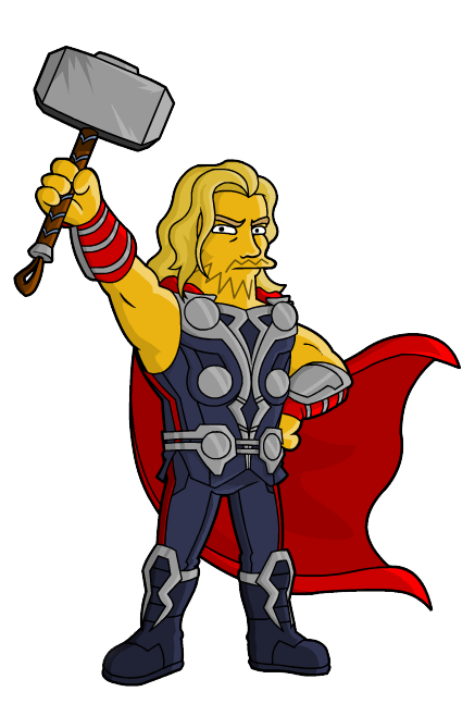 437x647 Thor From Springfield Simpsons Avengers Movie Clipart Png