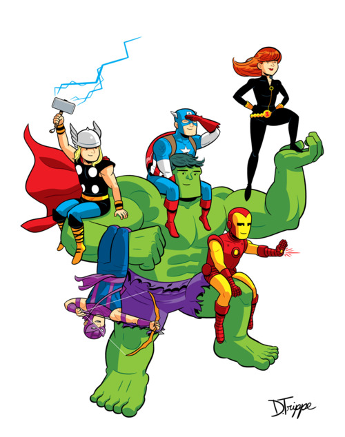 500x634 Clipart Of Avengers
