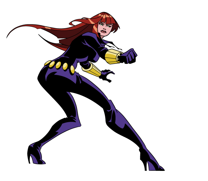 700x609 Avengers Black Widow Cartoon