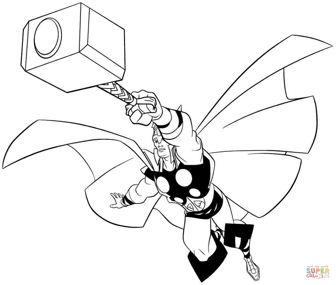 1118x946 Avengers Thor Coloring Page Free Printable Coloring Pages