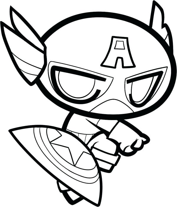 600x700 Marvel Captain America Coloring Pages The Avengers Character Page
