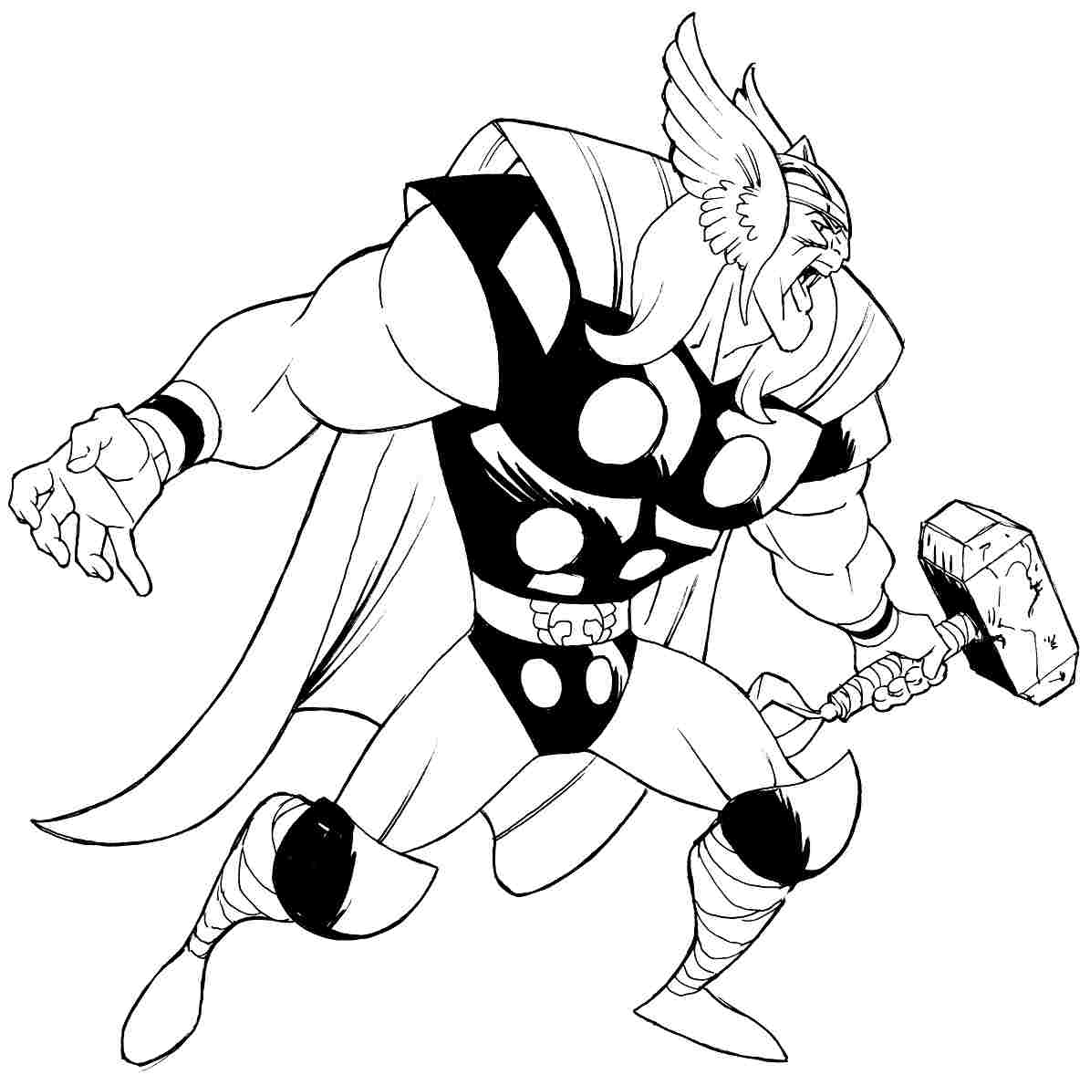 1195x1178 Thor Coloring Pages