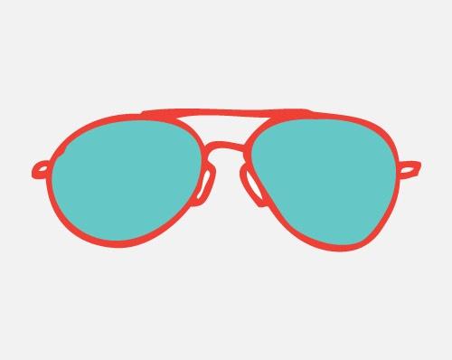 500x398 Sunglasses Clipart Aviator Sunglasses