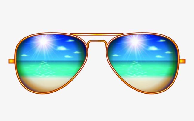 650x407 Creative Aviator Sunglasses Illustration, Accessories, Creative