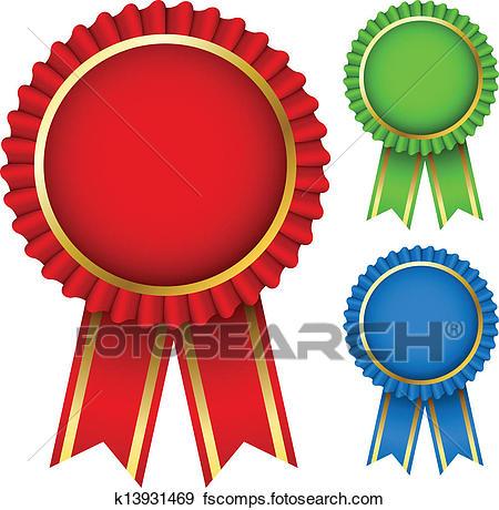 450x460 Clip Art Of Award Ribbon Rosettes K13931469