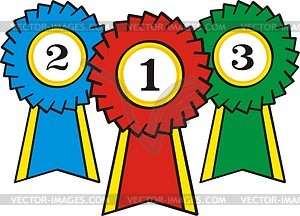 300x216 Prize Ribbons Clipart