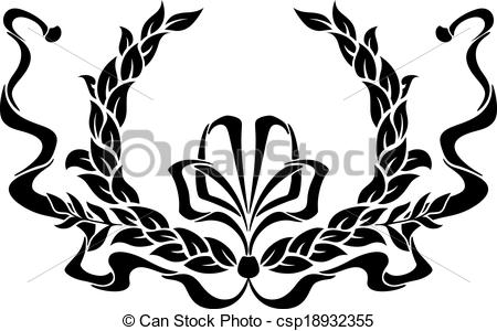 450x300 Ribbon Clipart Black And White.preview. Image Of Hair Bow Clip Art