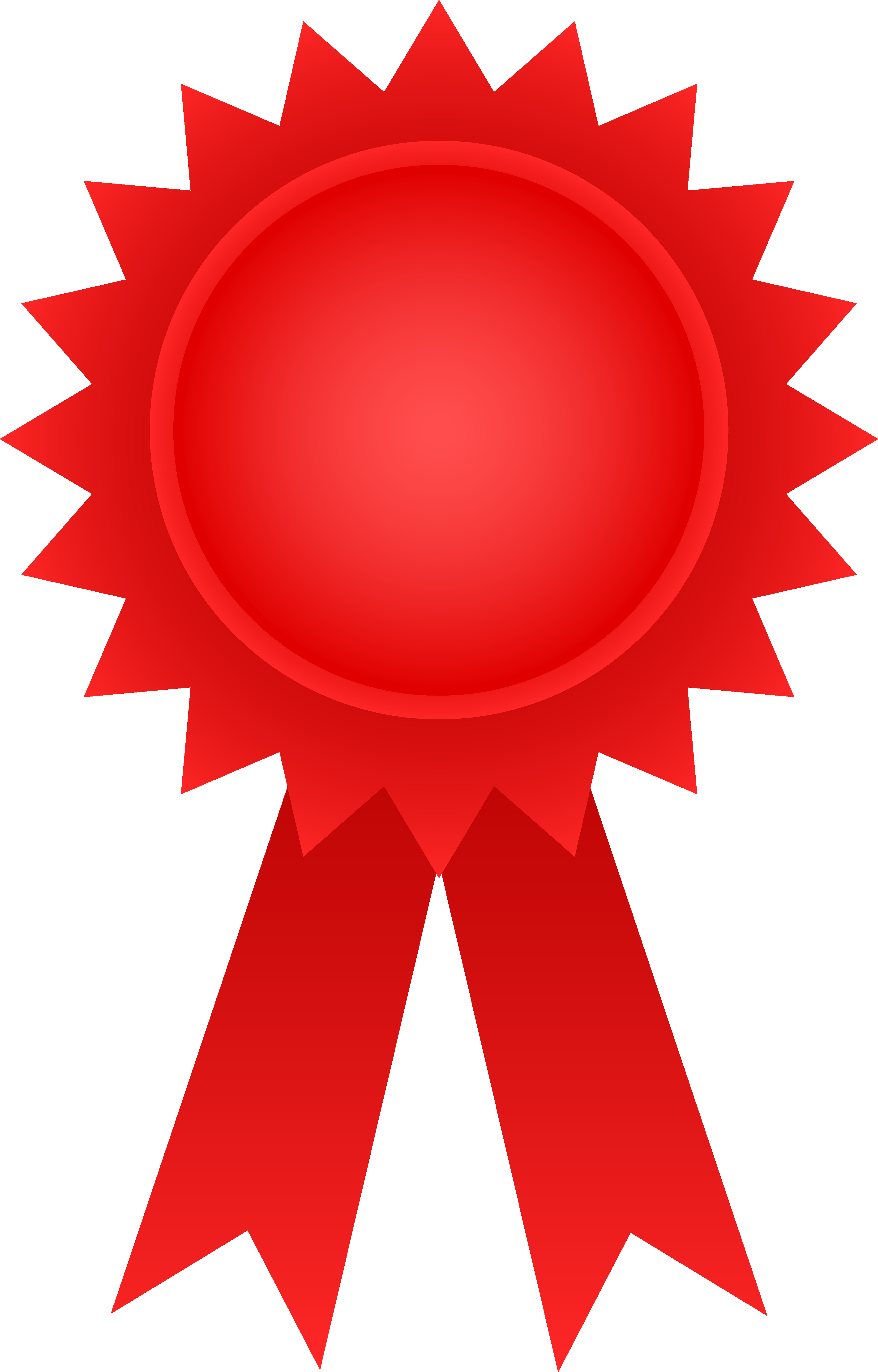 3717x5809 Award Ribbon Clipart