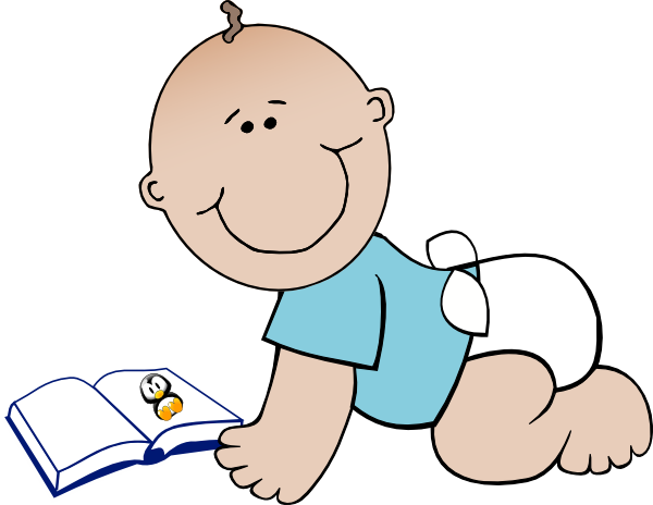 600x464 Baby Read Clip Art