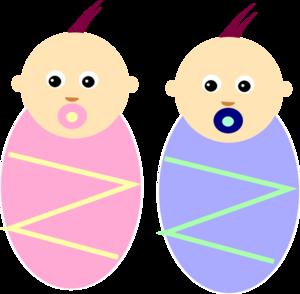300x294 Boy Girl Twin Babies Clip Art