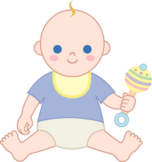 517x550 Vintage Baby Illustrations Clipart Baby Boy With Rattle Free