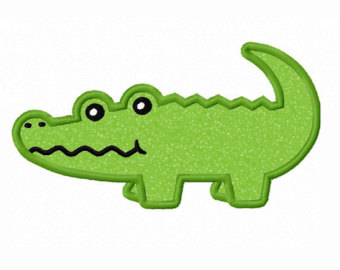 340x270 Instant Download Alligator Baby Applique By Joyousembroidery