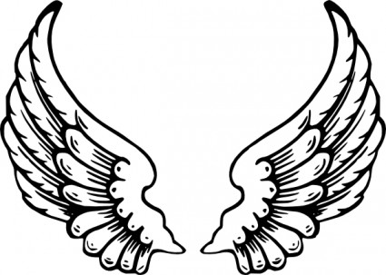 425x303 Angel Wings Clip Art Daycare Crafts Angel Wings