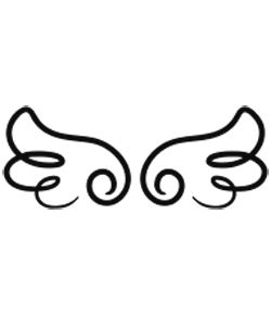 250x290 Baby Angel Wings Clipart