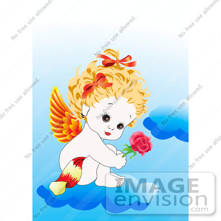 450x450 Sweet And Adorable Female Baby Baby Angel With Orange And Red
