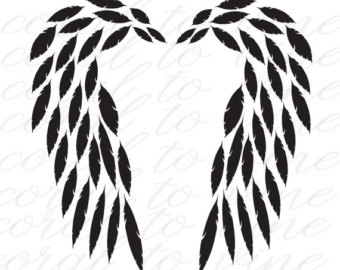 340x270 Mom To Child With Wings Svg Feather Angel Wings Svg Child