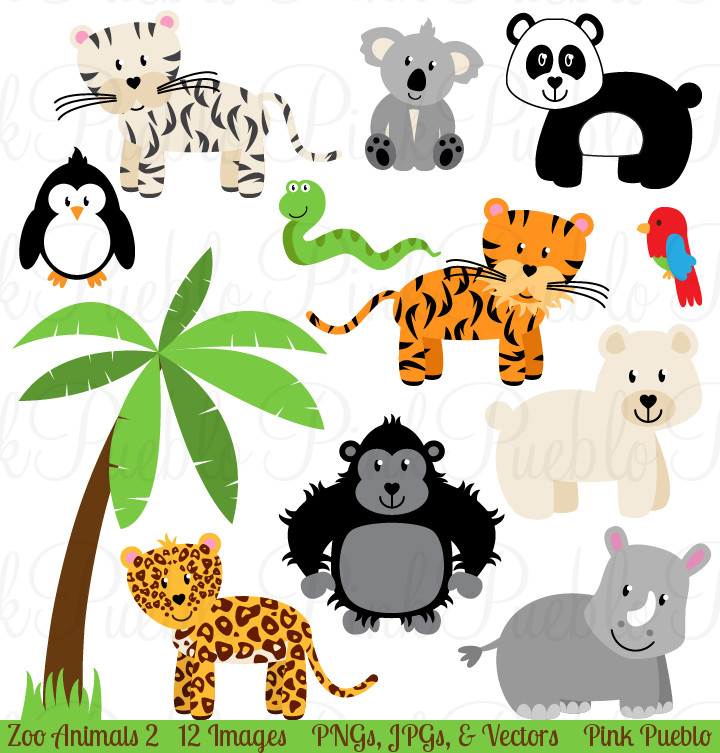 720x753 Zoo Animals Clipart