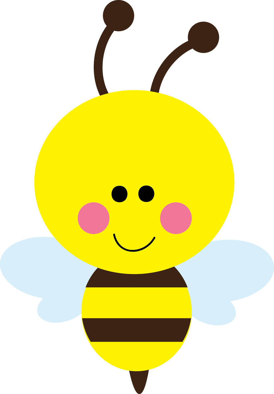 891x1280 Bee Face Clipart