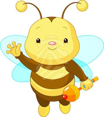 354x400 Bee Clipart Cute Baby Bee