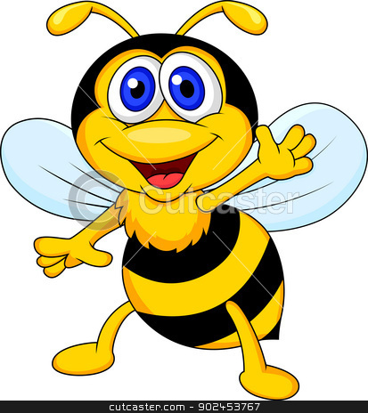 413x464 Cute Baby Bee Clipart