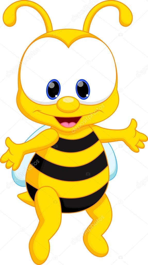 574x1023 Cute Baby Bee Cartoon Stock Vector Irwanjos2