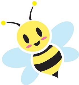 278x300 Cute Bee Clipart